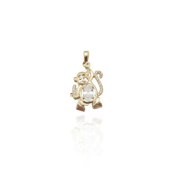 Подвеска Playful Monkey CZ (14K) Нью-Йорк Popular Jewelry