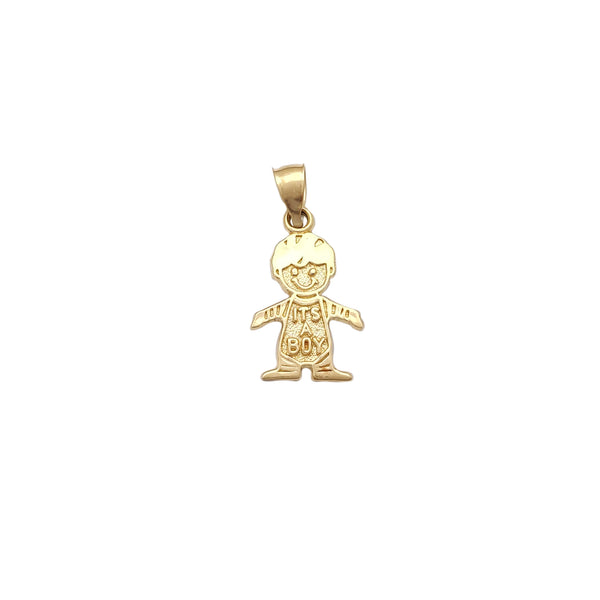 Polished It's a Boy Pendant (14K) Popular Jewelry New York