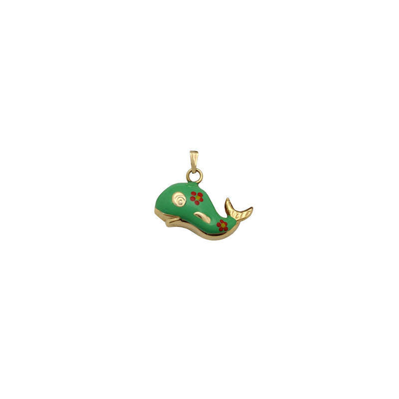 Puffy Colorful Whale Pendant (14K) Popular Jewelry New York