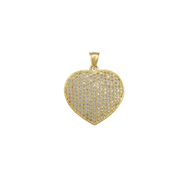 Puffy Icy Heart Pendant (14K) Popular Jewelry New York