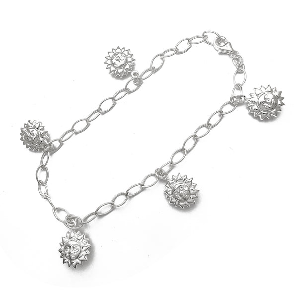 Puffy Sun Anklet (Silver)