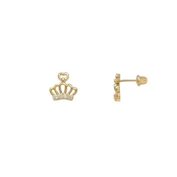Queen of Love Stud Earrings (14K) Popular Jewelry New York