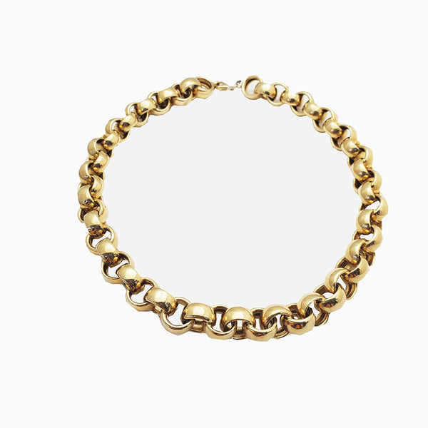 Hollow Rolo Chain (14K)