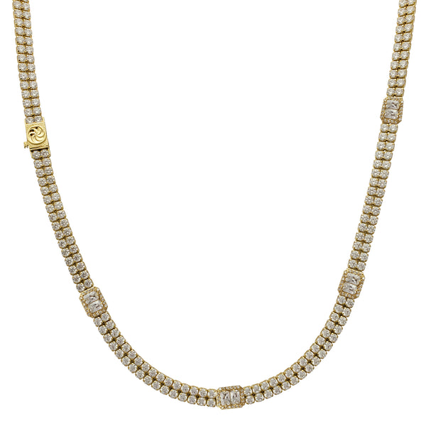 Radiant Setting 2-Row Tennis Chain (14K)