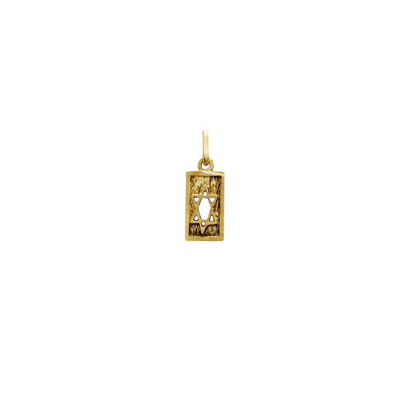Rectangle Star of David Pendant (14K) Popular Jewelry New York