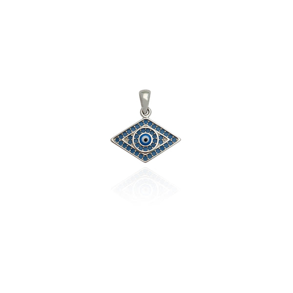 Colgante Rhombus Evil Eye CZ (Prata) Nova York Popular Jewelry