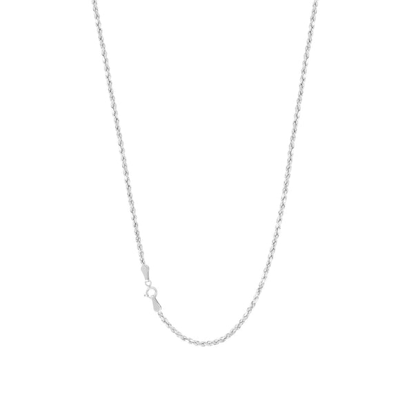 Solid 1mm Rope Chain (Silver)
