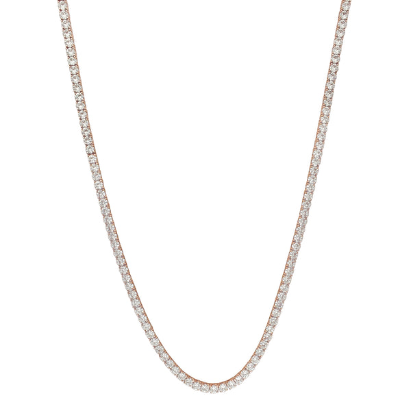 Round CZ Tennis Chain (Silver) Popular Jewelry New York