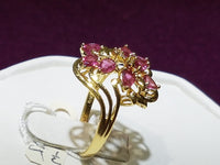 Floral Vine Ruby Ring 14K - Lucky Diamond 恆福 珠寶 金 行 New York City 169 Canal Street 10013 Sieradenwinkel Playboi Charlie Chinatown @luckydiamondny 2124311180