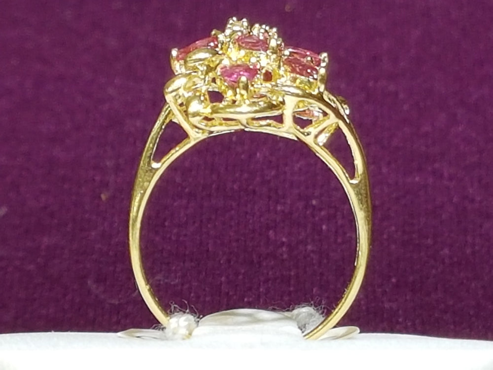 Floral Vine Ruby Ring 14K - Popular Jewelry