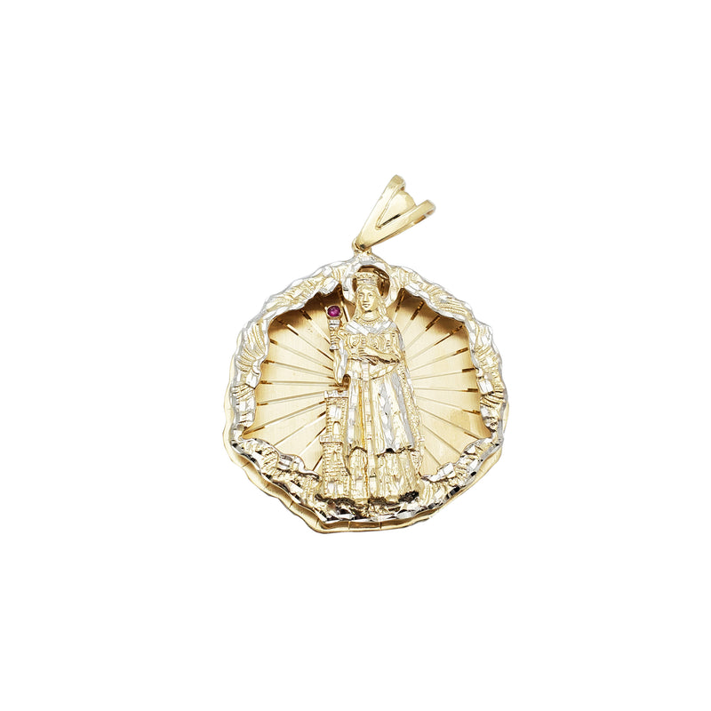 Two-tone Santa Barbara Pendant (14K)