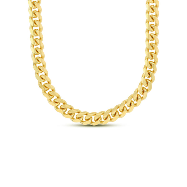 Solid Miami Cuban Chain Silver (Yellow)