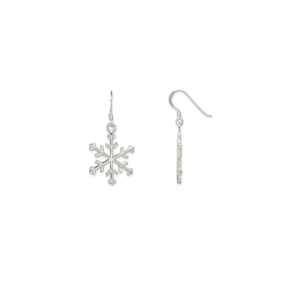 Snowflake Dangling Earrings (Silver)