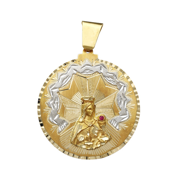 Saint Barbara Medallion Pendant (14K) Popular Jewelry New York