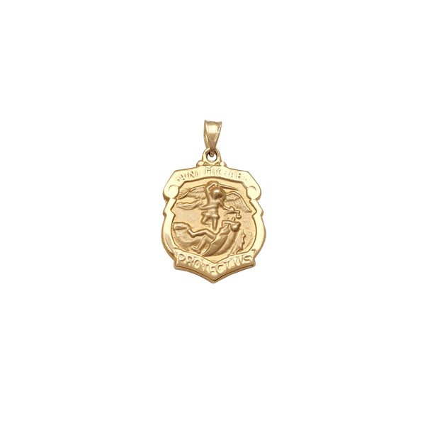 Saizi Yepakati Pakati Saint Michael Badge Pendant (14K) Popular Jewelry New York