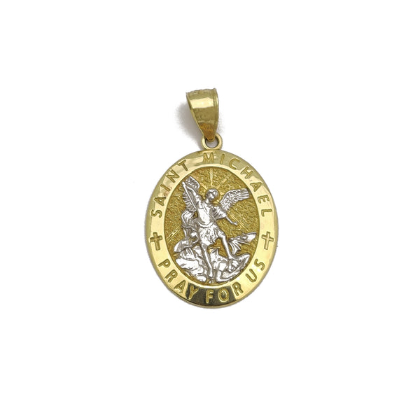 Saint Michael Oval Medallion Pendant (14K)