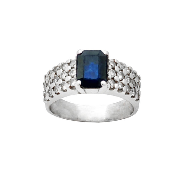 Diamond Sapphire Ring (14K) Popular Jewelry New York