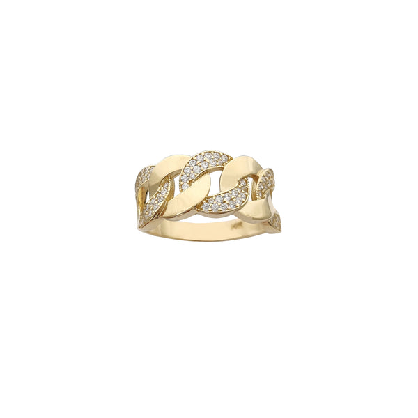 Semi-Icy Cuban Ring (14K) Popular Jewelry New York