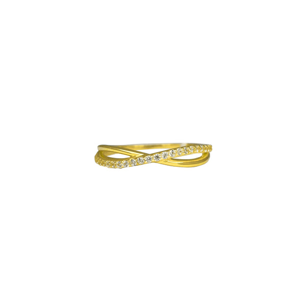 Semi-Pave Infinity Ring (14K) Popular Jewelry New York