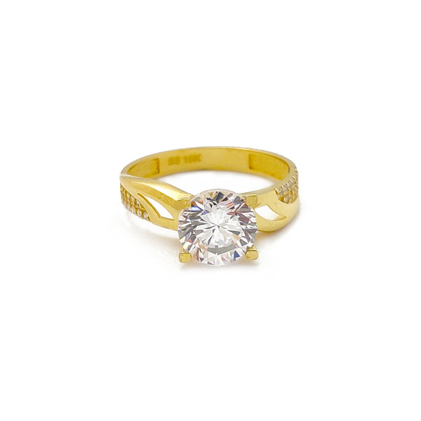 Semi-Pave Enganing Ring (10K) Popular Jewelry New York