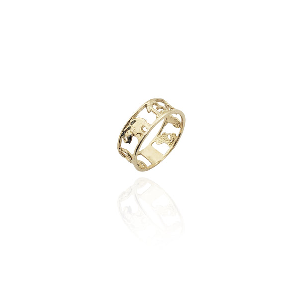 Seven Potential Lucky Ring (14K) Nova York Popular Jewelry