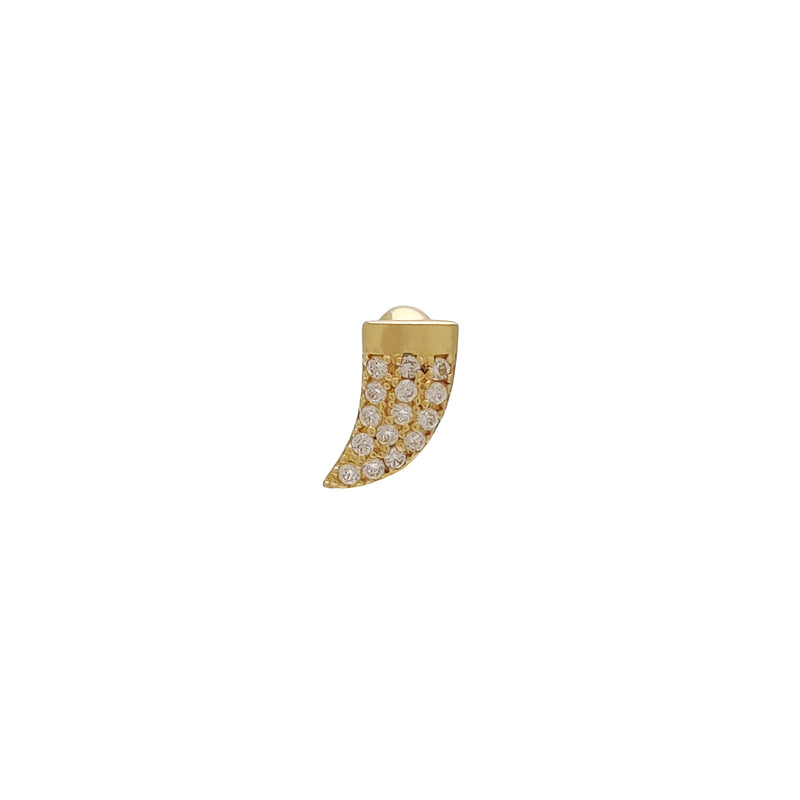 Shark Tooth CZ Labret Piercing (14K) Popular Jewelry New York