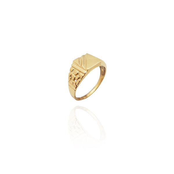 Signet Nugget Ring (14K) New York Popular Jewelry