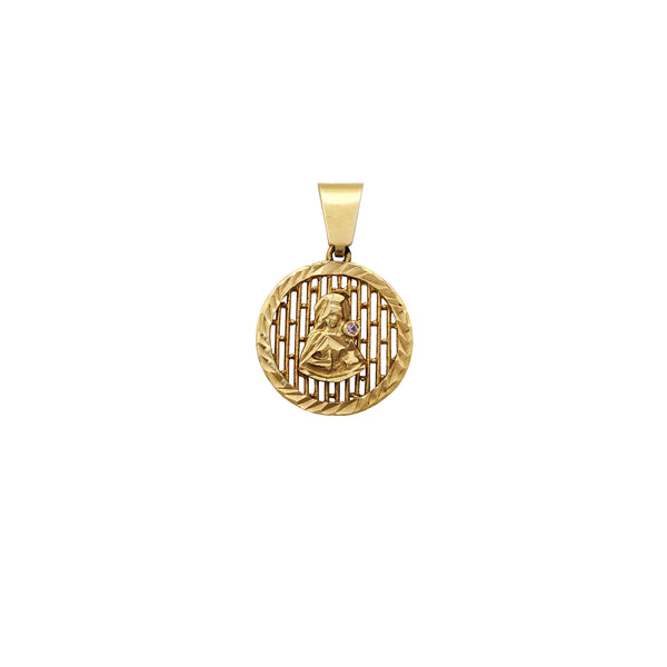 Silhouette ឫស្សីមូល Saint Barbara Medallion Pendant (14K) Popular Jewelry ញូវយ៉ក