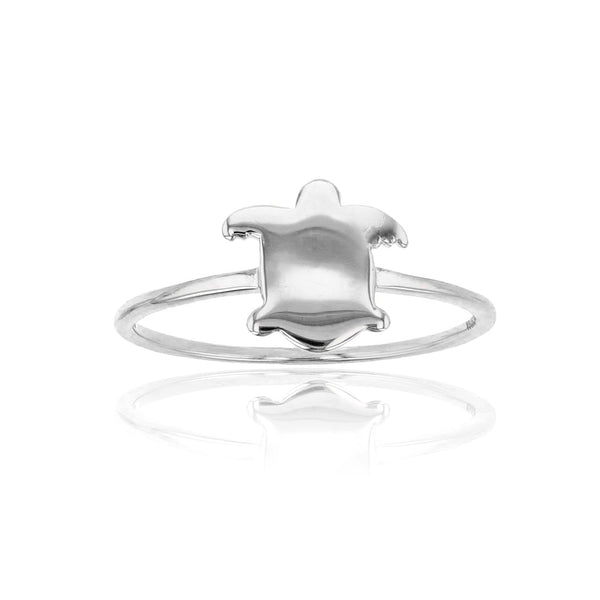 Silhouette Turtle Ring (Silver) Popular Jewelry New York