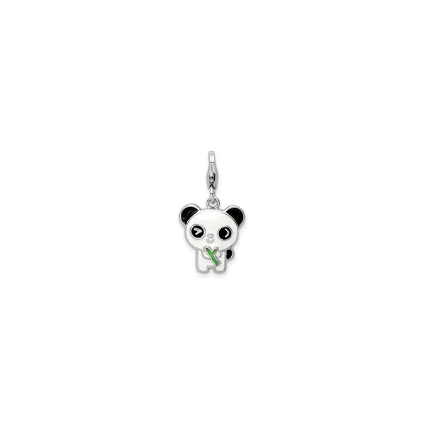 Adorable Cartoon Panda Charm (Silver) front - Popular Jewelry - New York