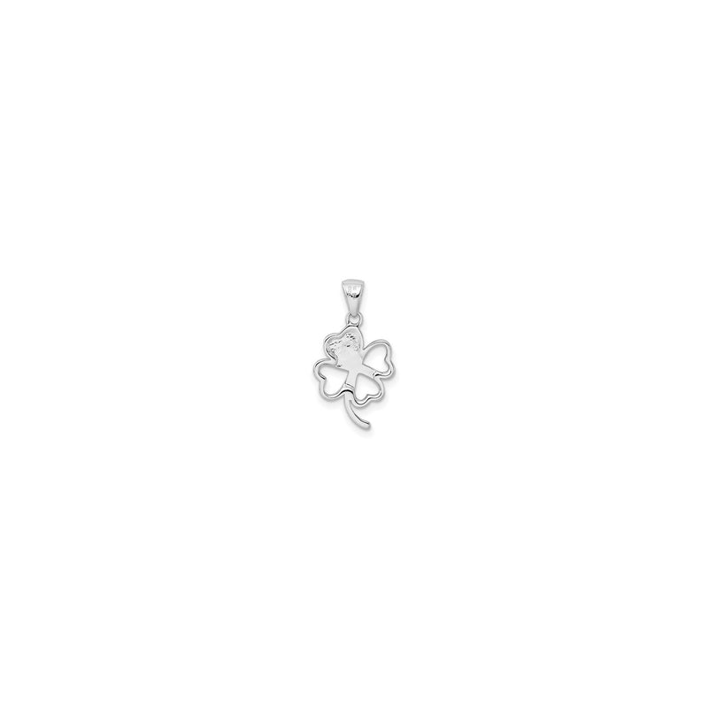 Clover Cutout Pendant (Silver) back - Popular Jewelry - New York