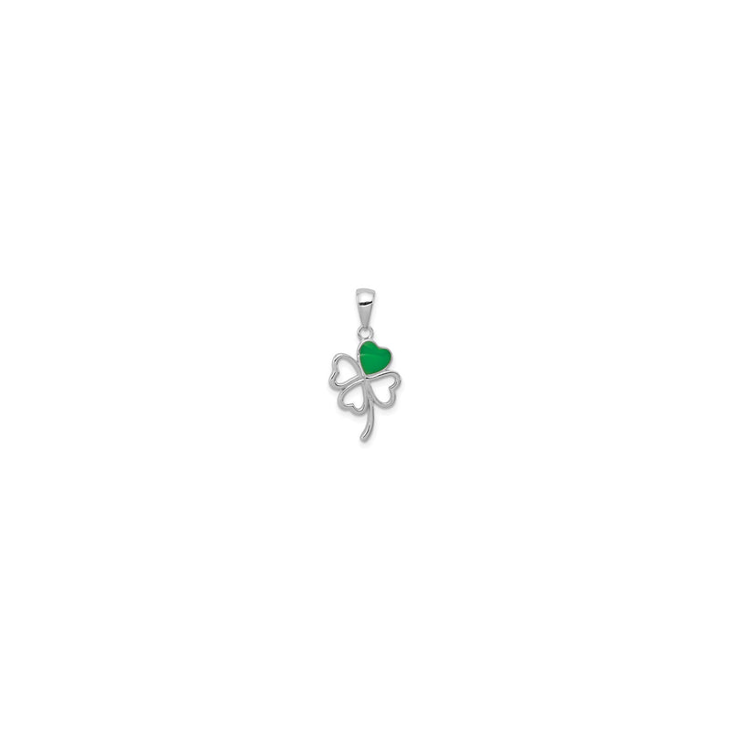 Clover Cutout Pendant (Silver) front - Popular Jewelry - New York