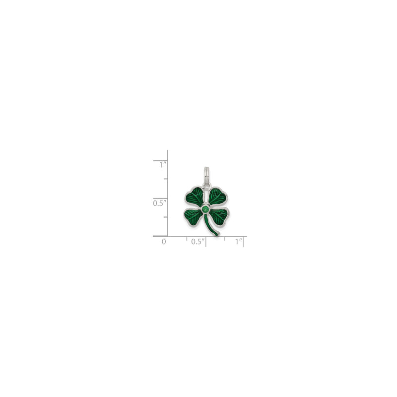 Evergreen Clover Charm (Silver) scale - Popular Jewelry - New York