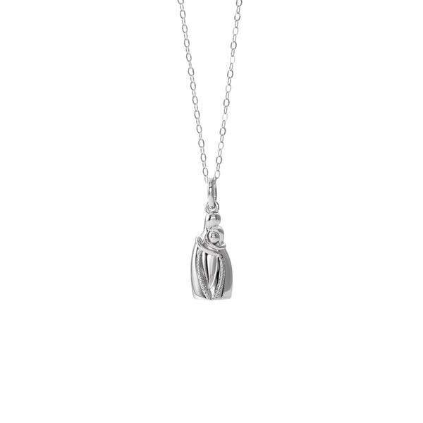 Holding You Forever Ash Holder Necklace (Silver) front - Popular Jewelry - New York