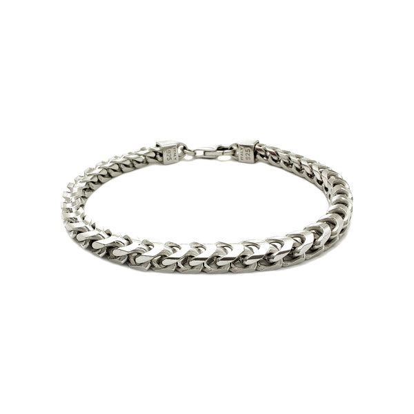 Bracelet Franco Argent (Argent) Popular Jewelry New York