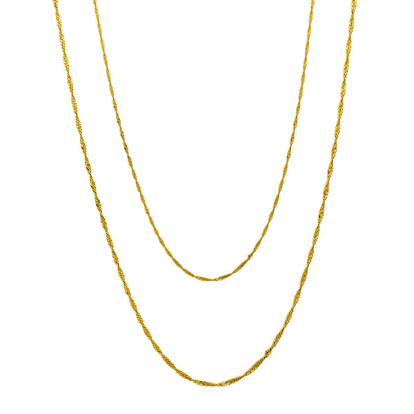 Singapure veriga (14K) Popular Jewelry NY