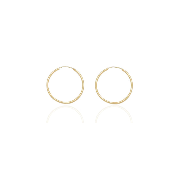 Pendientes de aro finos y ligeros (14K) Popular Jewelry New York