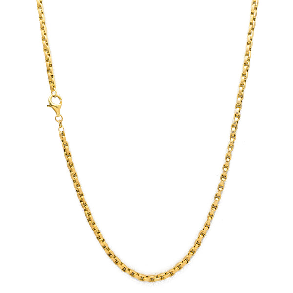 Solid Box-Cable Chain (14K) Popular Jewelry New York