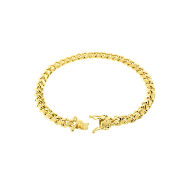Solid Miami Cuban Bracelet (14K) Popular Jewelry New York