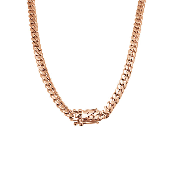 Solid Miami Cuban Chain (14K)