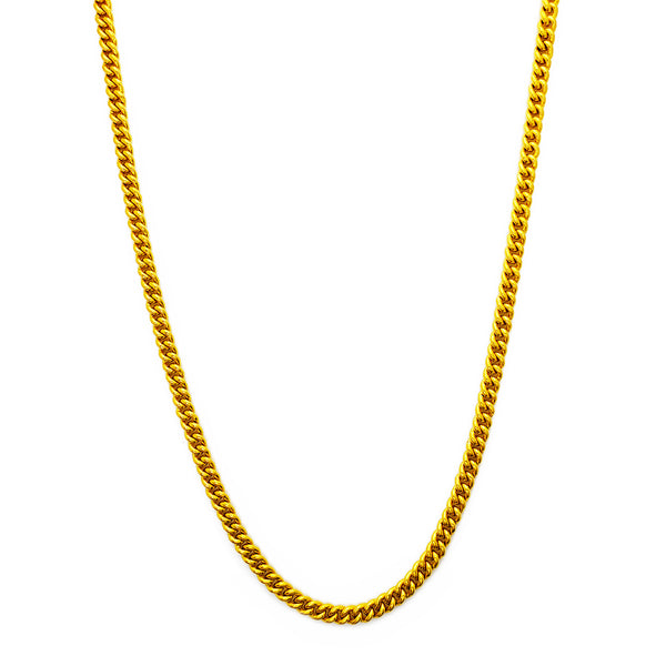Katina kubana ta 'Miami solida (24K) Popular Jewelry NY