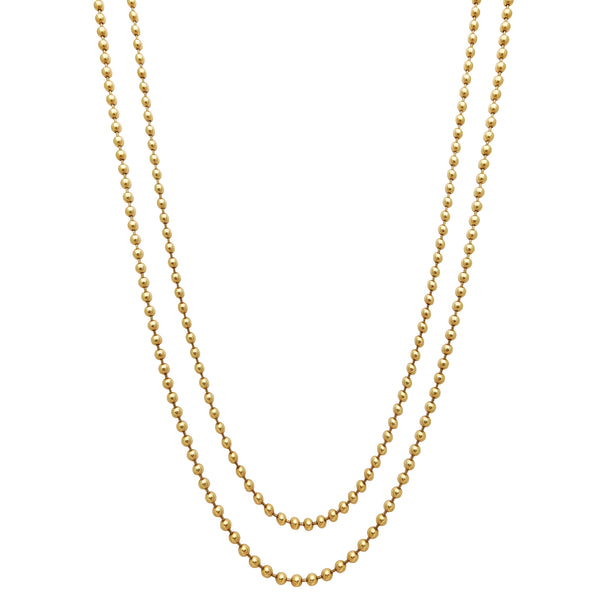 Solid Ball Chain (14K) Popular Jewelry New York