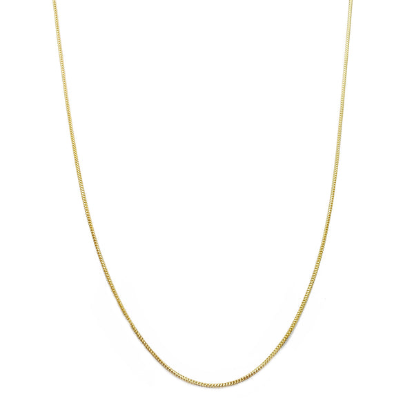 Solid rûne Franco ketting (14K) Popular Jewelry New York