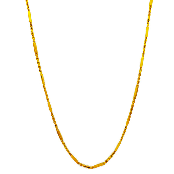Square Bar Cable Chain (24K)