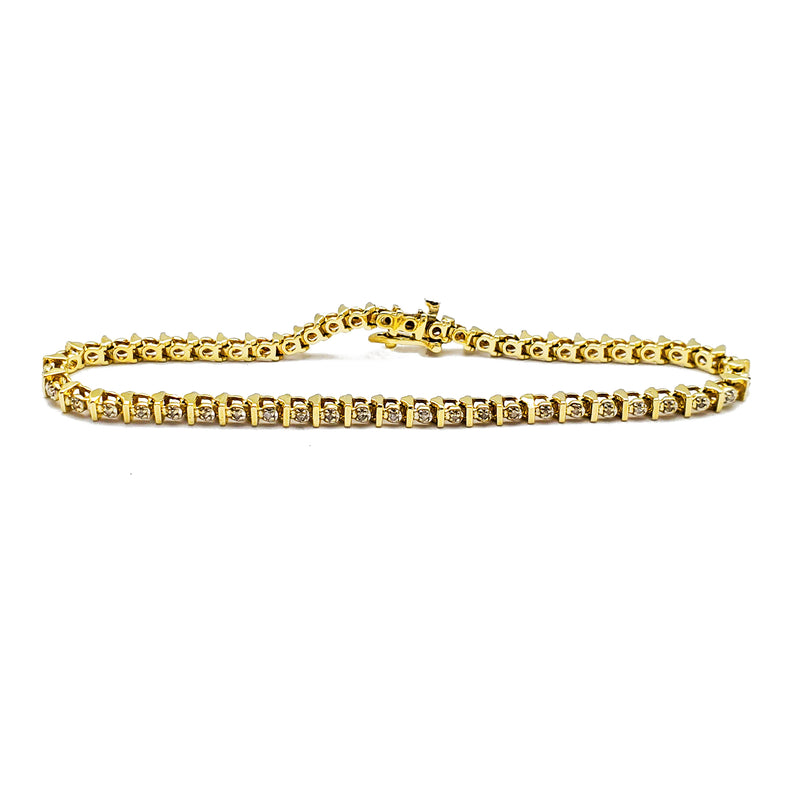 Stackable S-Link Diamond Bracelet (14K) Popular Jewelry New York