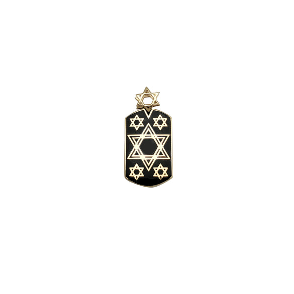 Star of David Dog Tag Pendant (14K)