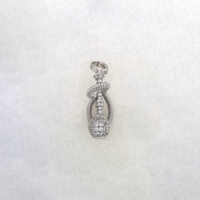 Iced-Out Hookah Pendant Silver - Popular Jewelry