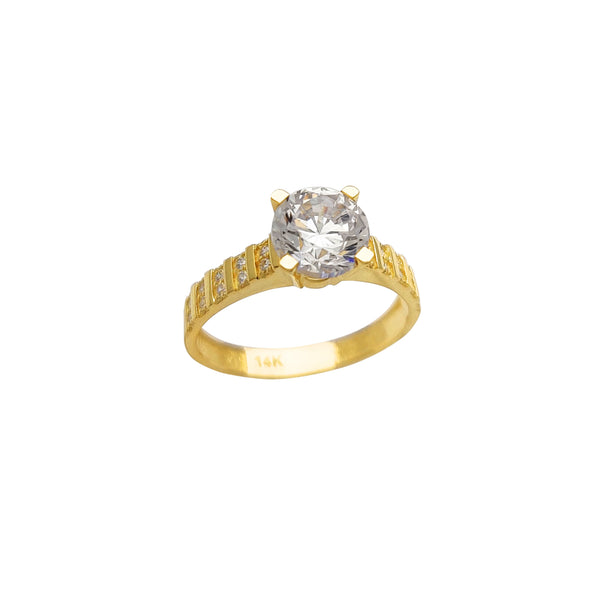 Stone-Set Engagement Ring (14K) Popular Jewelry New York
