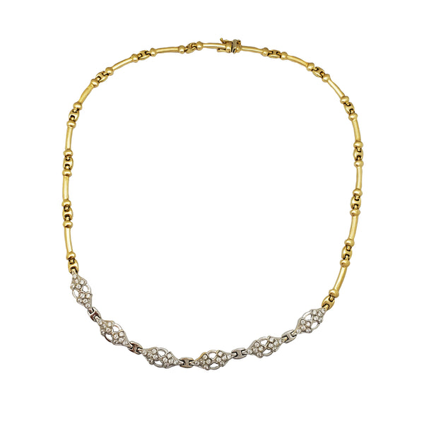 Stone-Set Fancy Necklace (14K) Popular Jewelry New York