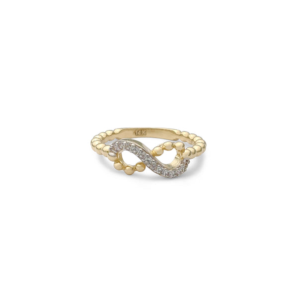 Stoneset Infinity Beaded Ring (14K) Popular Jewelry New York
